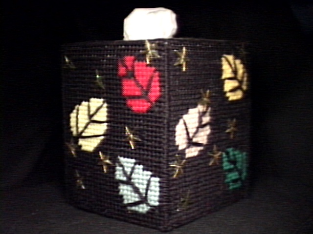 Autumn Leaves Tissue Box Cover