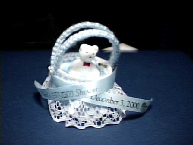 Baby Bassinet Gift Basket Close Up