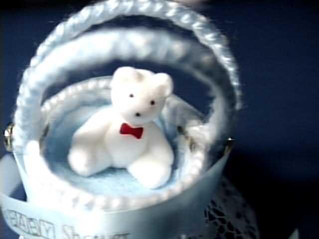 bassinet white bear