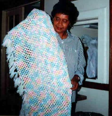 Popcorn Stitch Blanket