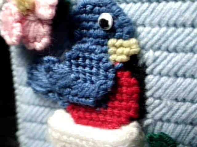 Bluebird house bird