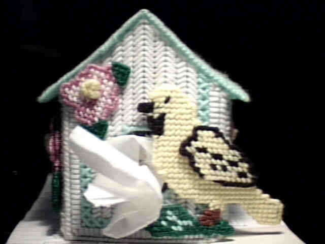 Canary Bird House Tissue Box Cover