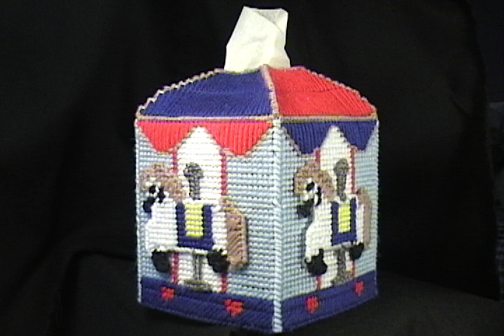 Carousel Tissue Box Cover