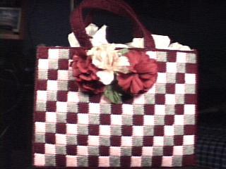 Checkerboard Stitch Handbag