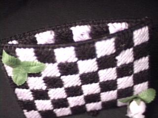 Checkerboard Tissue Holder open