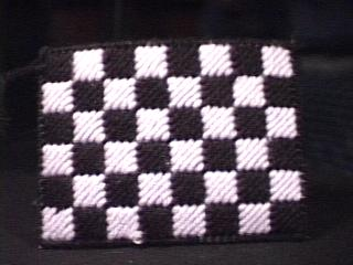 Checkerboard Tissue Holder back