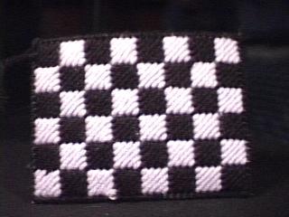 Checkerboard Tissue Holder back