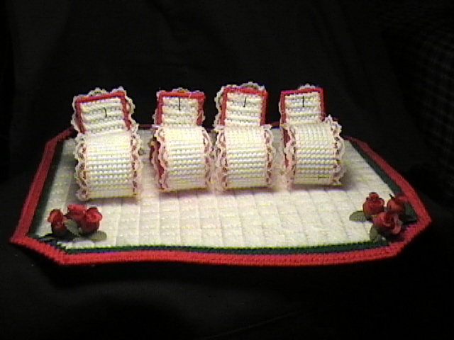 Christmas napkin holders back