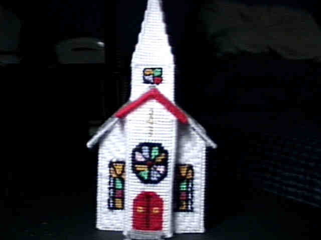 Country Church Display Piece
