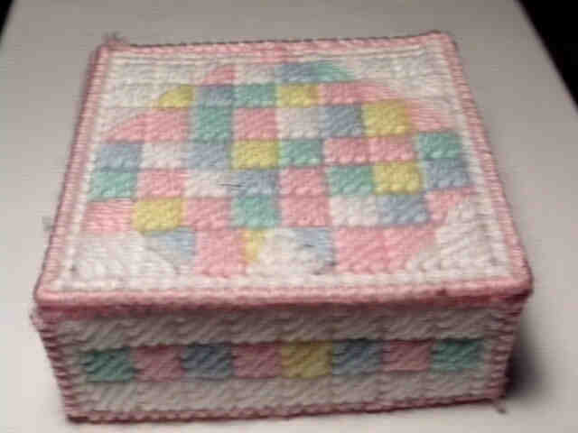 Patchwork hearts closed box
