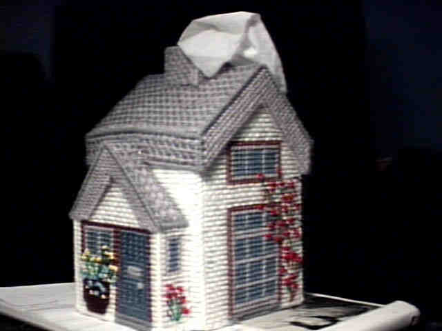Country Cottage Tissue Box Cover