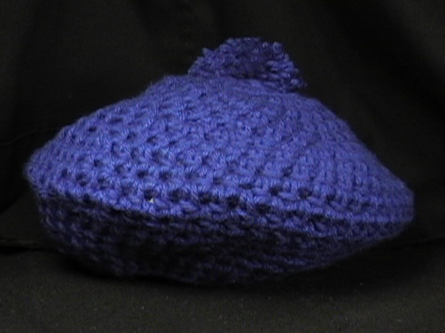 Crochet Beret & Scarf Dark Blue