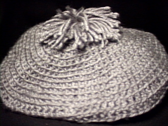 Crochet Beret & Scarf Gray