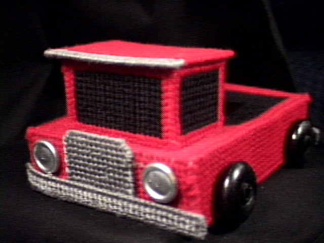 Fire Truck Tissue Box Cover travel size