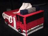 Fire Truck Tissue Box Cover