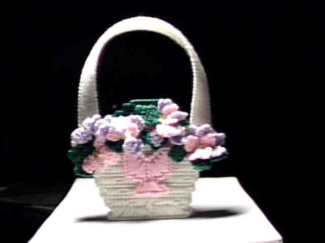 Flower basket door hanger front