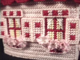 Cottage in pink windows