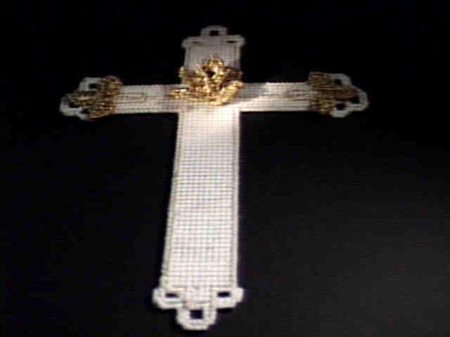 Golden Rose Cross