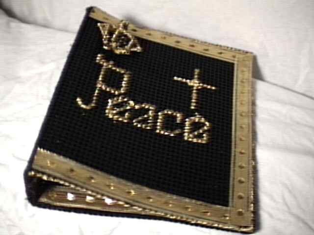 Gold on Black Bible Cover