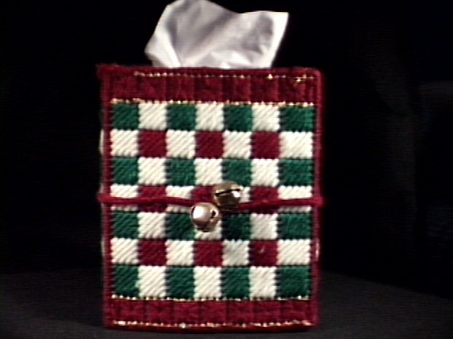 Green & Red Tissue Box Cover