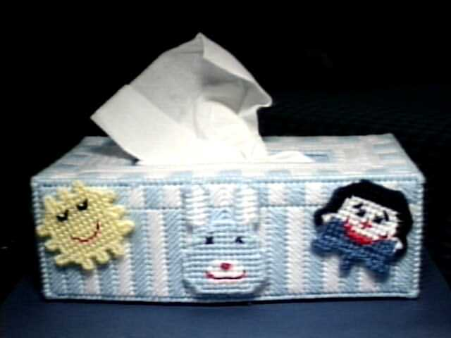 Happy Faces tissue box cover