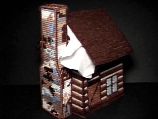 Log Cabin Tissue Box Cover