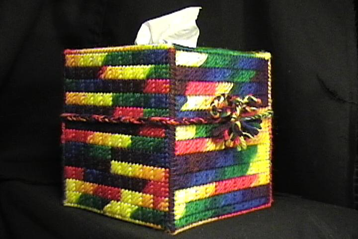 Multicolor Tissue Box Cover
