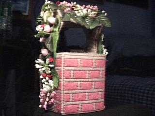 Pink Floral Wishing Well back