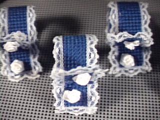Blue & White Lace Placemat Set