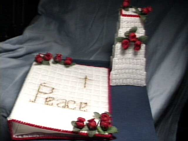 Red Rose Bible Cover Set