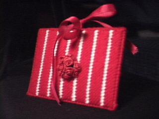 Red Rose Tissue Holder side
