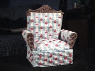 Regal Chair Trinket Box Light Blue