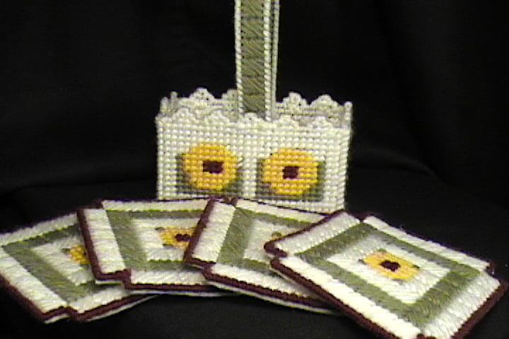 Sunflower Coaster Set