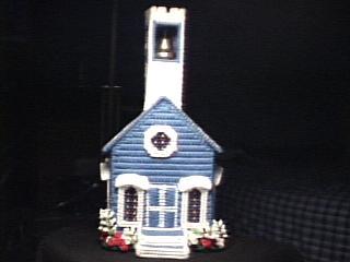 Church dark blue front