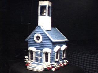 Tissue Box Church Dark Blue