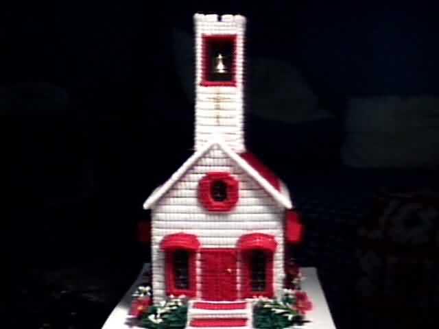 Church Tissue Box Cover Red