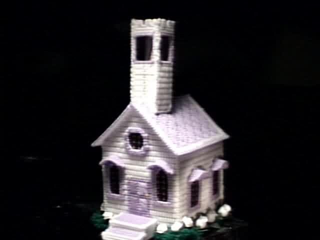 Church Tissue Box Cover Violet