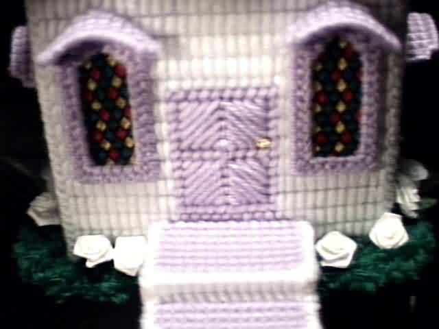 Church box violet doorway