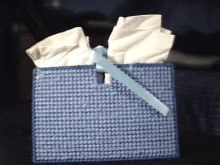 Bluebird Tissue Holder back