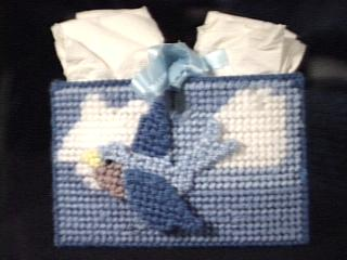 Bluebird Tissue Holder