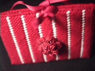 Red Rose Tissue Holder