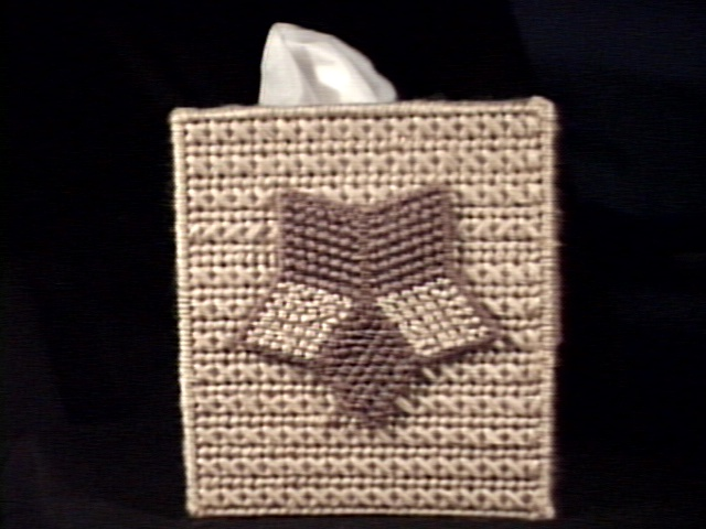 Two Tone Star Tissue Box Cover