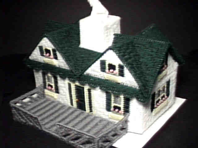 Victorian Style House Tissue Box Cover