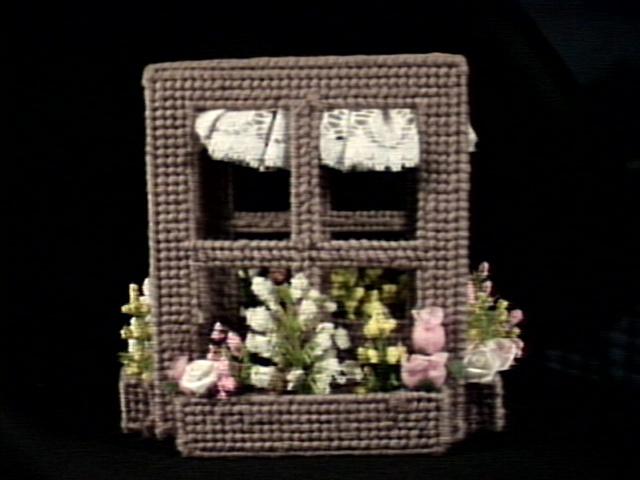 Window Frame Tissue Box Cover